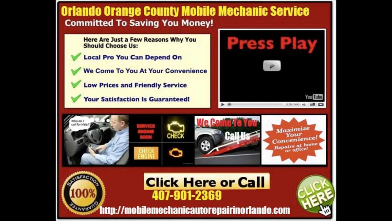 Orlando Mobile Auto Car Mechanic Service